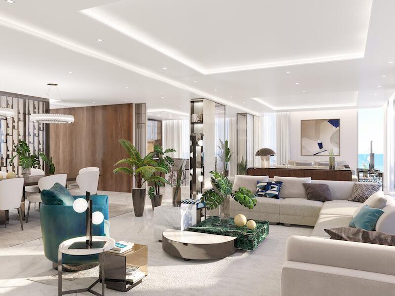08. Sky Villa Living Area Wide Angle